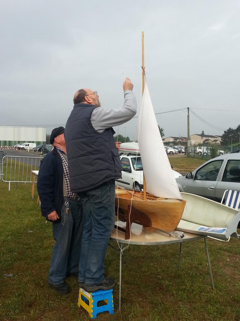 Installation de la voile