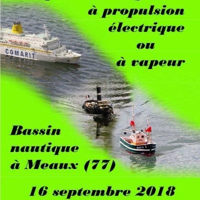 Concours Amical de Maquettes Navigantes à vapeur ou électrique à Meaux - (Septembre 2018)