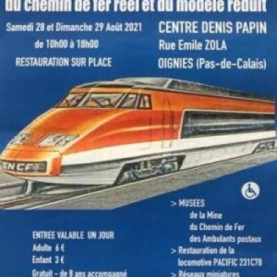 26è Salon du chemin de fer réel et du modèle réduit à Oignies - (Août 2021)