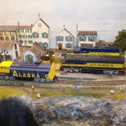 Au 1er plan Locomotive diesel GM E MD F7 Alaska Railroad