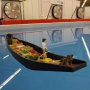 Barque à cornet des hortillonnages d'Amiens