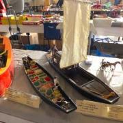 Barque à cornet des Hortillonnages d'Amiens et une Toue Cabanée