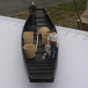 Barque Cornée des hortillonnages d'Amiens