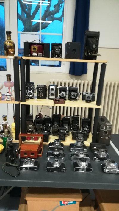 Belle collection d'appareils photo