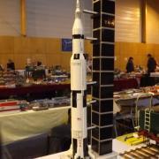 Belle maquette de la fusée Saturne 5