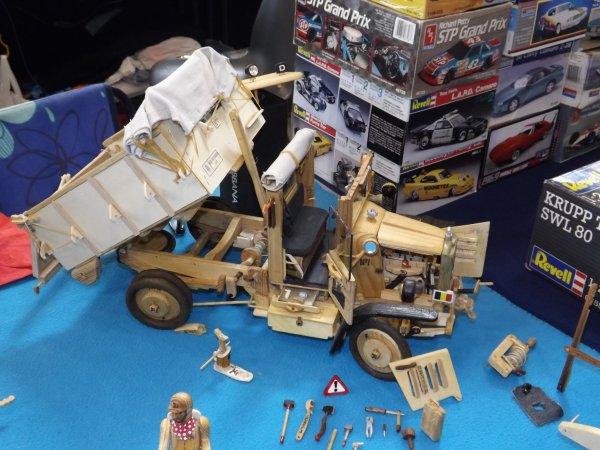 Camion en bois foctionnel réalisation de