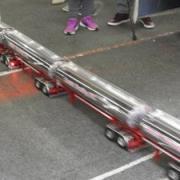 Camion RC en accélération avec ses 4 citernes