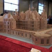 Chateau de Chambord réalisé avec 400 000 allumettes
