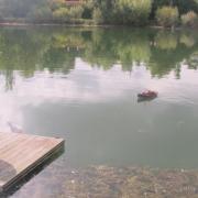 Concentration sur le ponton