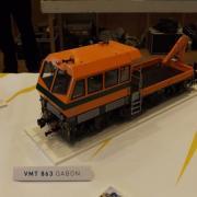 Draisine de chantier caténaire une VMT 863 (Gabon)