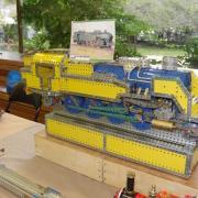 """Locomotive vapeur """"141-TC"""" réalisée en Meccano"""
