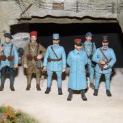 Détail  du diorama Carrière du 1er Zouaves