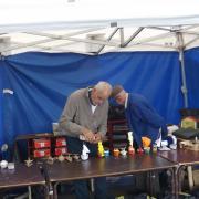 Installation des maquettes en carton