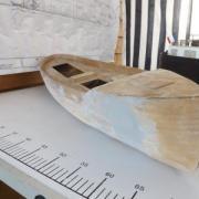 Maquette en restauration le chalutier de pêche