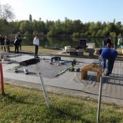 Installation de la piste camions
