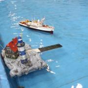 La Calypso en approche du ponton
