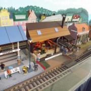 La gare et un générateur à vapeur de 1860