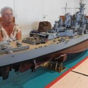 """Le """"USS-MISSOURI-BB63"""" (lancement en avril 1944)"""