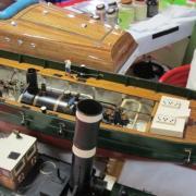 Les entrailles du remorqueur à vapeur le Haleur