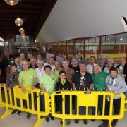 Les participants en présence du Maire délégué aux sports