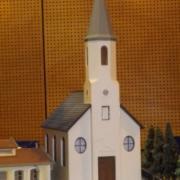 Maquette d'une église échelle HO