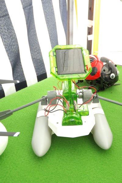 Maquette fonctionnant à l'énergie solaire