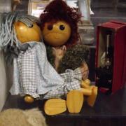Mignon petit couple en bois