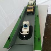 Ouverture de porte de la barge