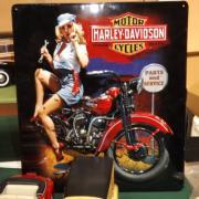 Plaque vintage Harley Davidson