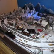 Réseau ferroviaire sous la neige