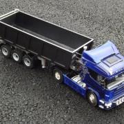 Scania avec sa benne