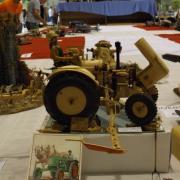 Tracteur fontionnel en bois réalisation de Freddy D