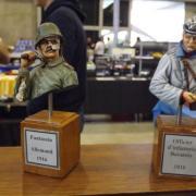 Un Fantassin allemand 1916 et un Officier d'infanterie bavarois 1916 figurines de Jean Pol