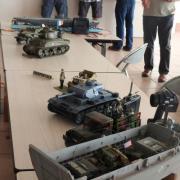 Une partie dédiée aux maquettes militaires