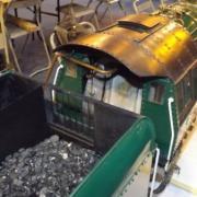 Une partie du tender et de la cabine de la Mikado 141 R420