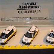 Véhicules de Renault Assistance, un Espace, une Laguna et une Clio
