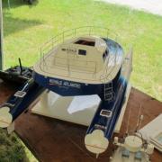 Vue arrière du Catamaran