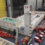 Vue d'ensemble d'un centre de secours des Pompiers